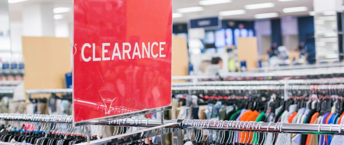 Clearance sign at a store