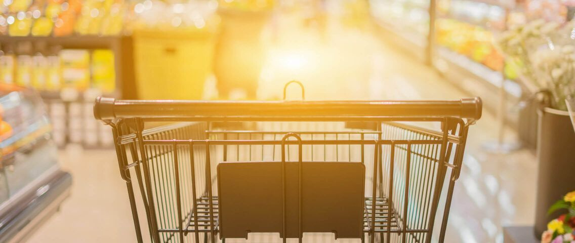 cart at supermarket