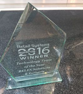 Retail Systems Awards 2016 trophy